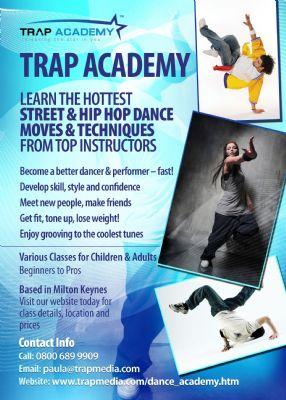 Trap Academy flyer