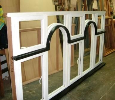 Painted hardwood window