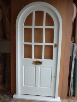 Painted hardwood door and frame