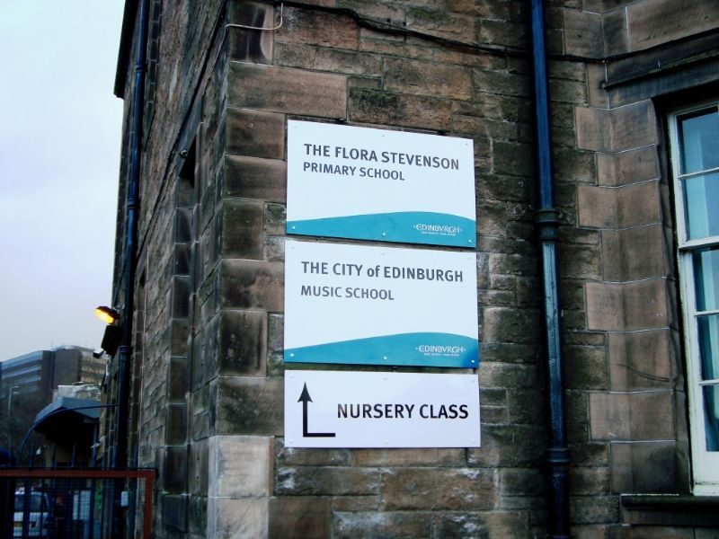 School Signage Edinburgh