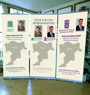 Pop Up Banners for Angus Robertson MP and Richard Lochhead MSP
