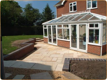 Conservatory, Walls & Paviers