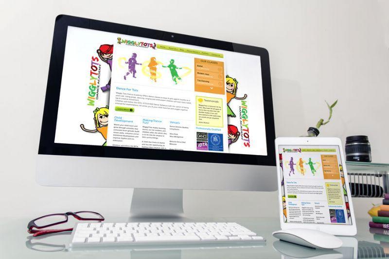 Childrens Dance Academy Website Design