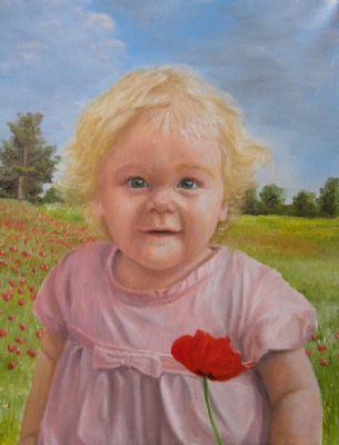 A portrait of a littl girl called Poppy.