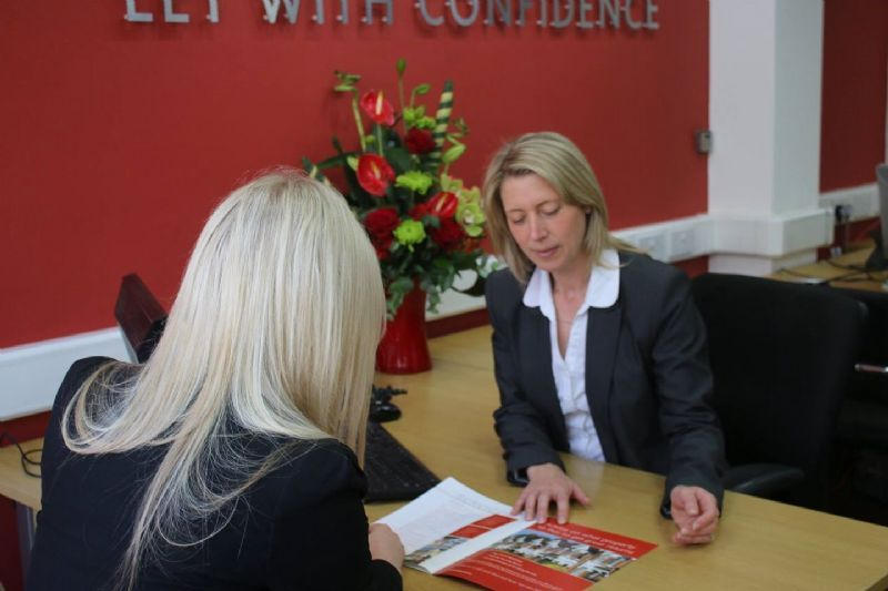 Helen Deeley moving in a new tenant