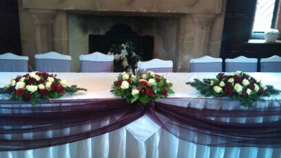 Wedding top table decoration