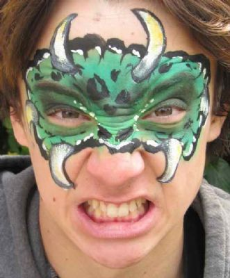 Face painted monster mask