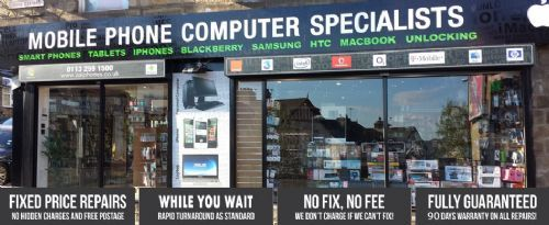 New Shop Front, completely rebuilt from the the ground up, specifically we focus on Apple mac repair leeds.