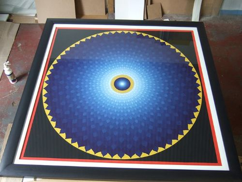 Large Buddhist mandala.