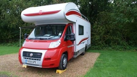 A good outside view of the overcab double bed