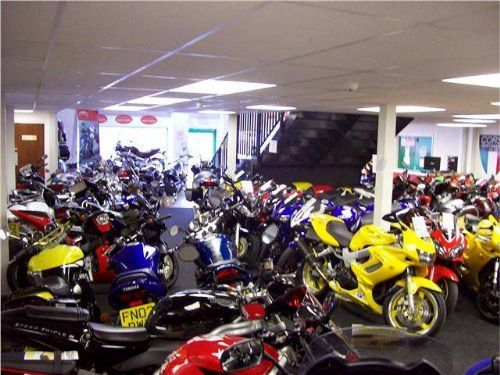 Our motorcycle showroom.