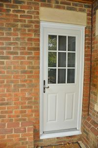 White UPVC Composite Back Door