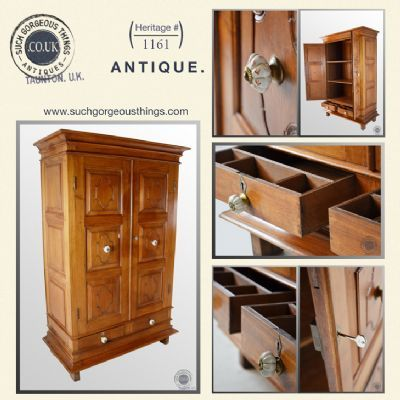 Antique French Cherry Wardrobe