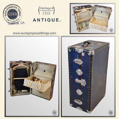 Vintage Shipping Steamer Trunk