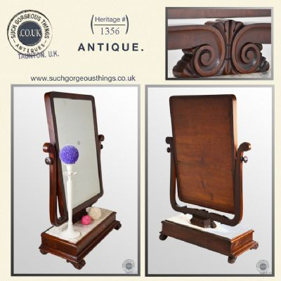 Antique Regency Vanity Mirror