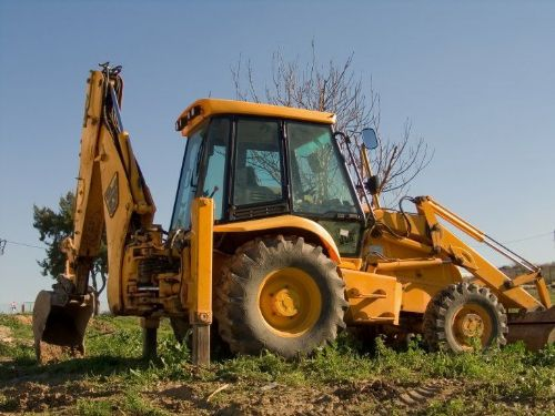 A JCB in action