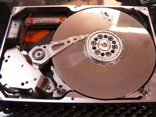 Catastrophic, non-recoverable hard drive damage.