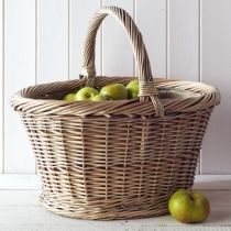 Baskets available throughout the year-for logs, fruit, shopping or purely decoration.