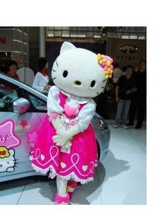 Hello Kitty Plush Mascot Costume