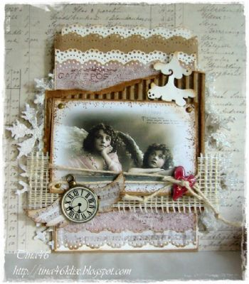 Vintage Christmas Card by DT Member Tina