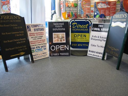 Range Pavement signs and A Frames