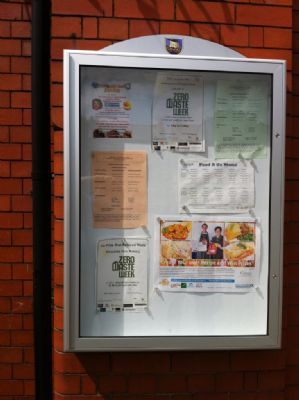 Notice Board for School in Stockport