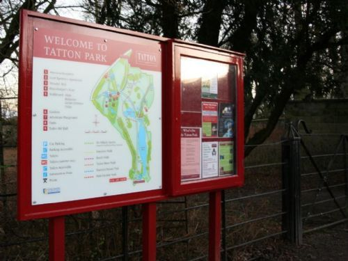Wooden Notice Board for Tatton Park