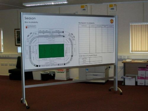 Magnetic Dry Erase board for Manchester United Football Club Corporate Sales