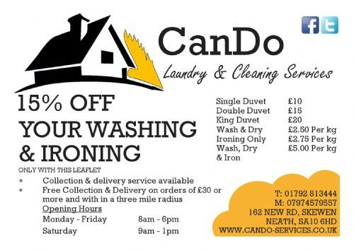 15% OFF WASHING & IRONING FOR A LIMITED PERIOD