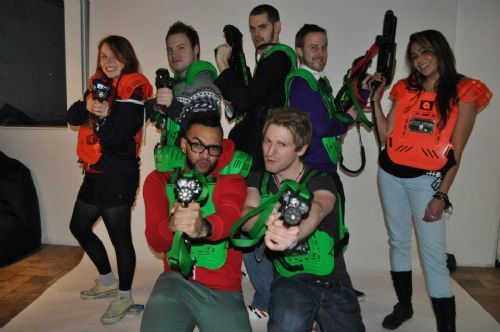 A&T playing laser tag at Quasar Swindon