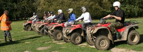Stag group quad biking