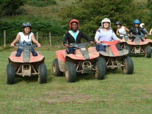 Ladies on a Hen weekend quad biking