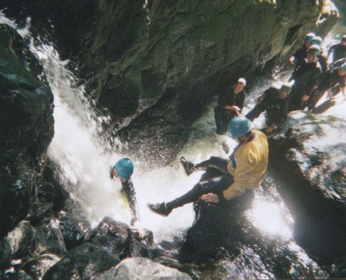 Gorge walking in the Brecon Beacons