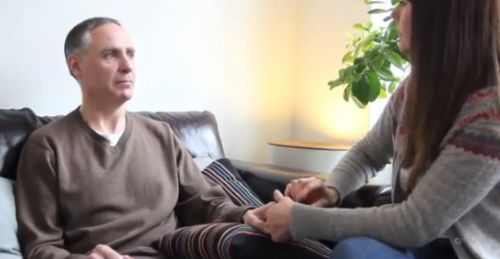 Carey working with CRPS sufferer, Paul Day