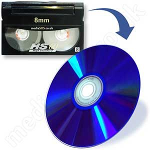 Transfer video8, hi8, 8mm, digital 8 tape to dvd.