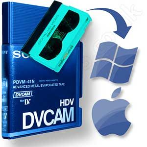 Transfer minidv-hd, dvcam, hdv tape to windows/mac format.