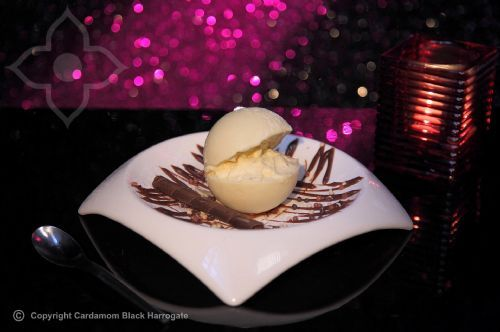 white chocolate hazelnut sphere