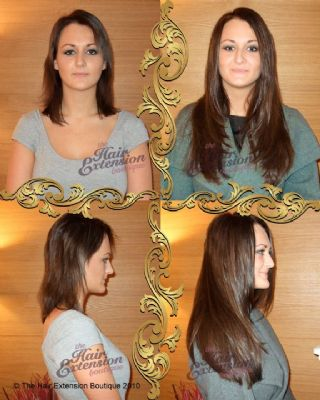 Full Head 16 inch European Human Hair Extensions, 200g, 4 Colours