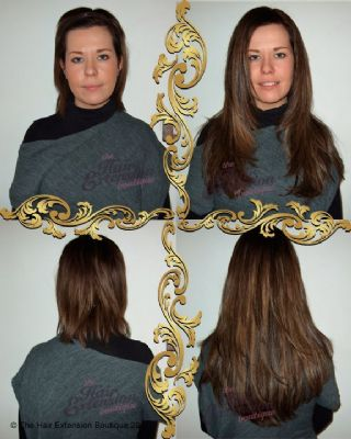 Full Head 16 inch European Human Hair Extensions, 125g, 4 Colours