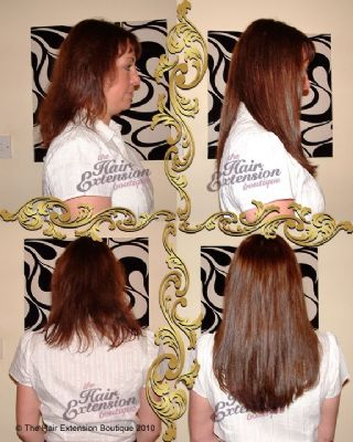 Full head of 14 inch Russian Human Hair Extensions