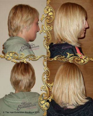 Full head of 10 inch European Human Hair Extensions