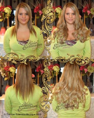Full Head 18 inch European Human Hair Extensions, 125g, 4 Colours