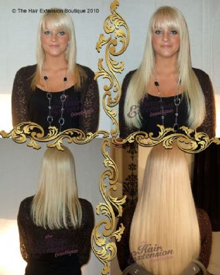 Full head of 18 inch Russian Human Hair Extensions