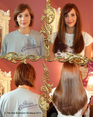 Full head of 16 inch European Human Hair Extensions