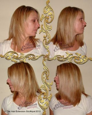 Hair Additions - Added at front and sides to fill in and bulk out over layered hair