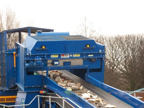 An Overband At A UK Recycling Facility