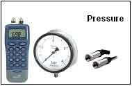 Calibration of various pressure equipment.