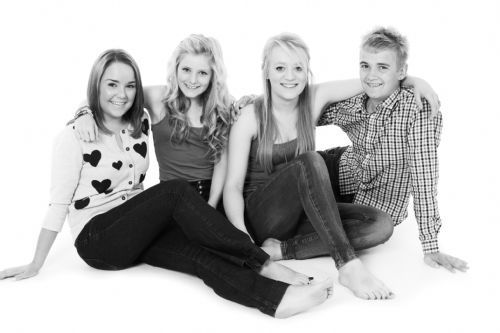Family portrait photography in Thetford studio.