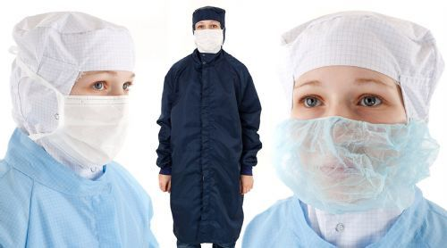Commercial photography for clean room garment supplier based in Thetford.