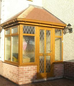 upvc oak porch